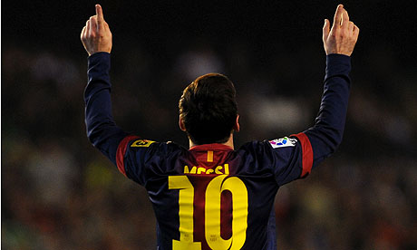 Lionel Messi has broken a number of records in 2012